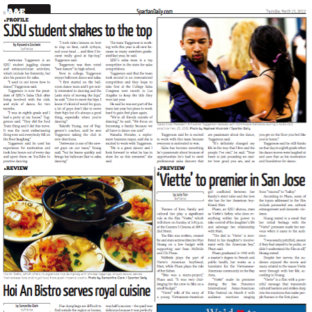 Spartan Daily, March 15, 2012